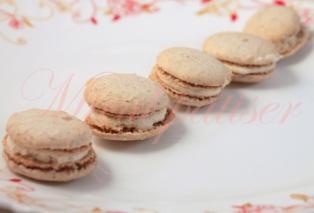 Mini-Macarons cu vanilie