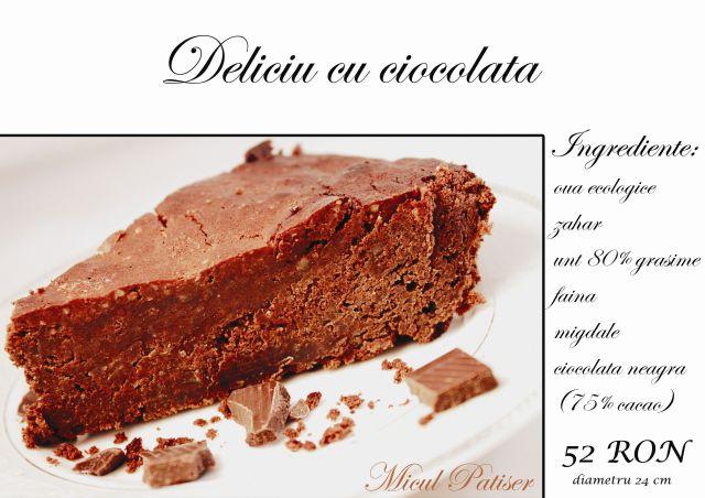 Deliciu cu ciocolata