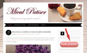 Comenzi prajituri online - screen1