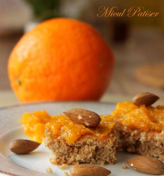 Prajitura cu migdale si portocale