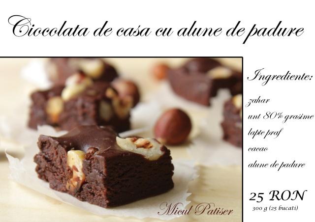 Ciocolata de casa cu alune de padure