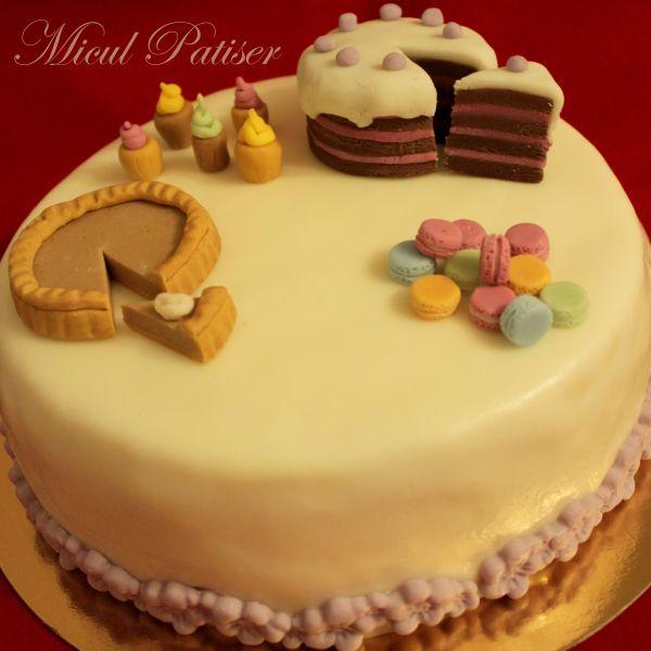Tort aniversar - 1 an de blog Micul Patiser