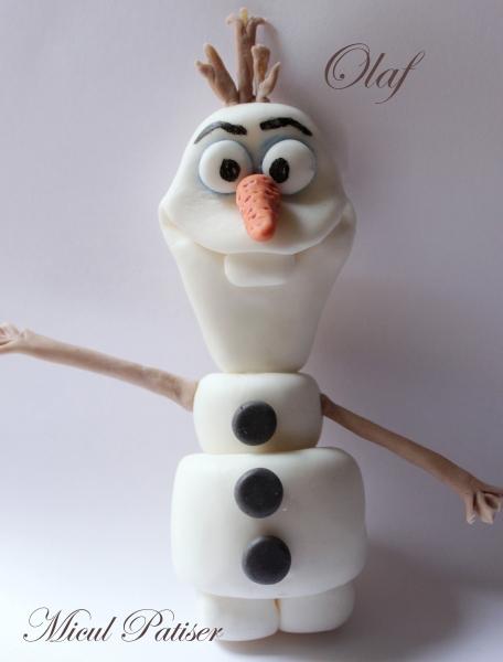 Olaf decoratiuni tort pasta de zahar