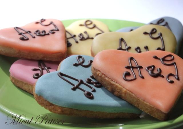 Marturii nunta biscuiti