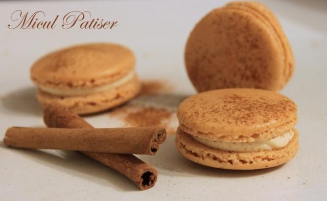 Macarons cu vanilie si scortisoara