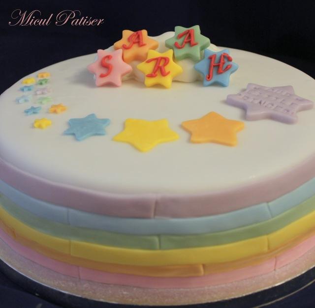 Tort curcubeu si stelute pentru Sarahx