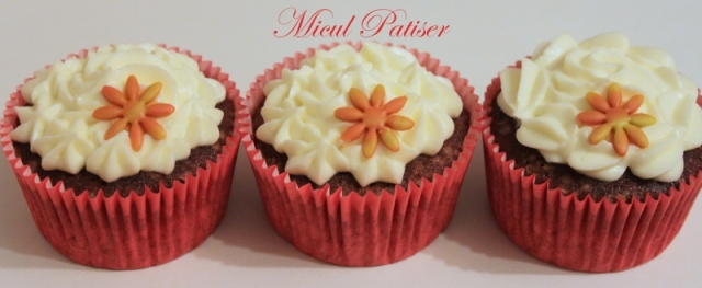 Cupcakes Red Velvet colorate natural