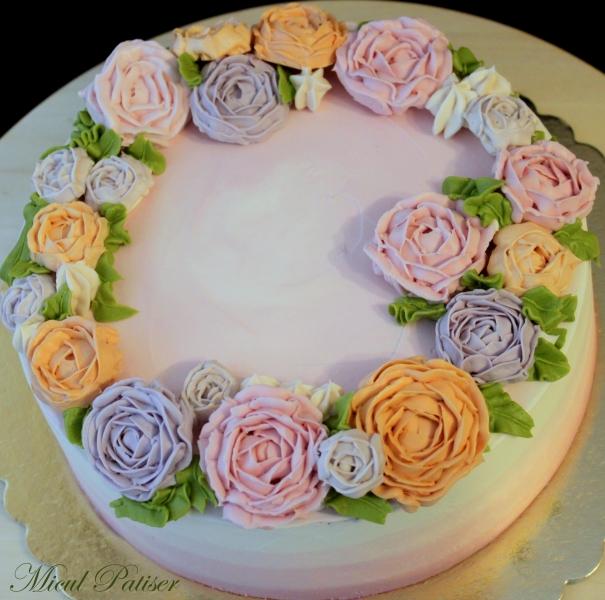 Tort cu flori de Florii 2016