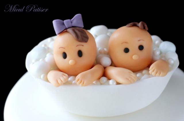 Tort pentru botezul gemenilor Daria si Darius