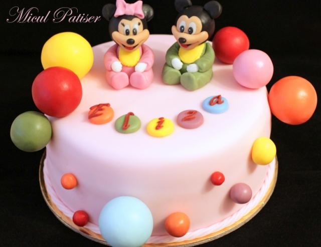 Tort bebe Minnie si Mickey pentru Eliza