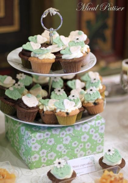 Cupcakes personalizate candy bar nunta