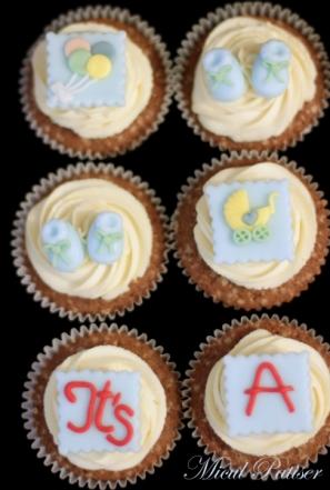 Cupcakes personalizate - decoratiuni bebe