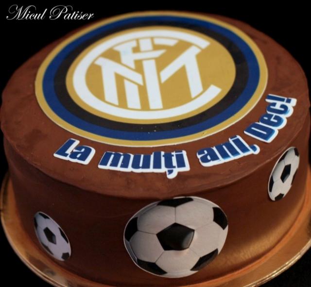 Tort personalizat Micul Patiser sigla Inter Milano