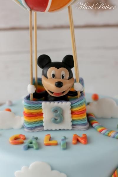 Tort cu Mickey si un balon cu aer cald pentru Calin