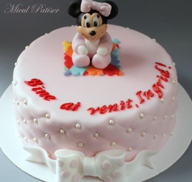 Tort cu bebe Minnie pentru Ingrid