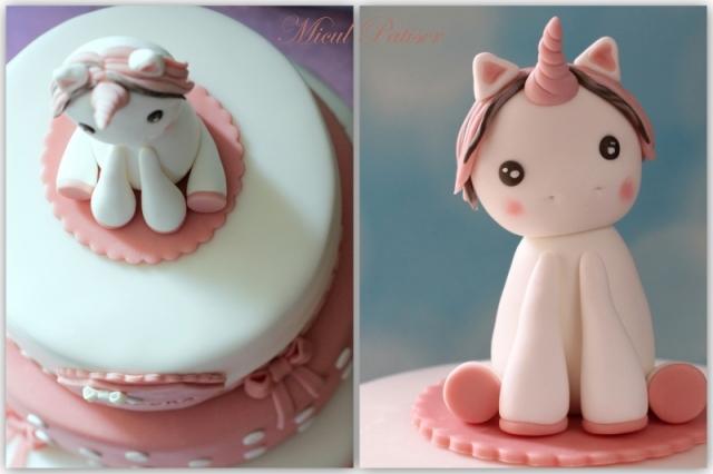 Unicorn figurina pasta de zahar