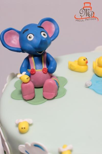 Tort aniversare 1 an elefantul Cici