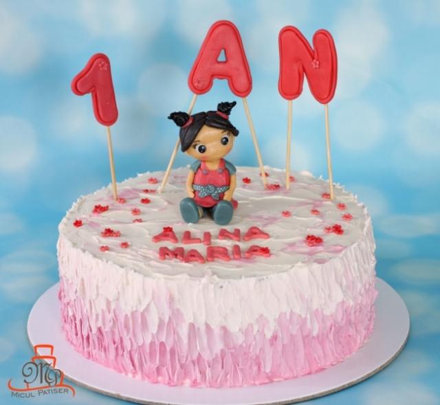 Tort papusa aniversare 1 an