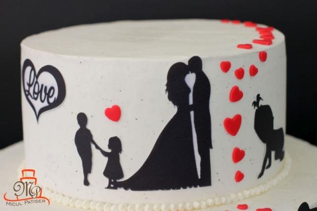 Tort nunta siluete