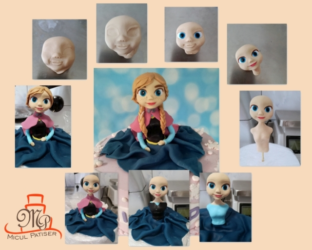 Colaj Anna Frozen personaj tort
