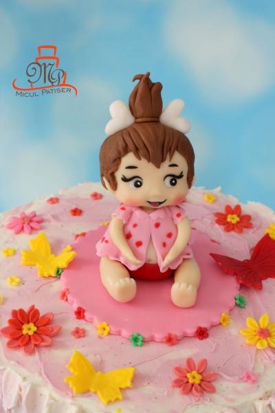 Tort figurina Pebbles Flinstones