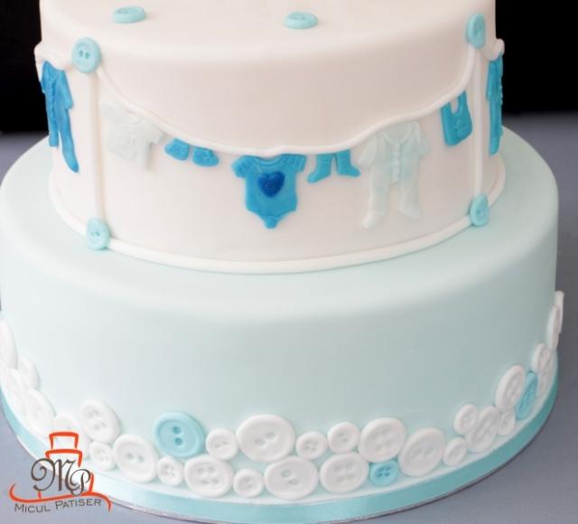 Tort botez topper personalizat