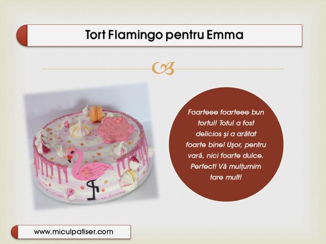 Tort cu flamingo pentru fetite