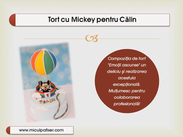 Tort cu Mickey si un balon cu aer cald