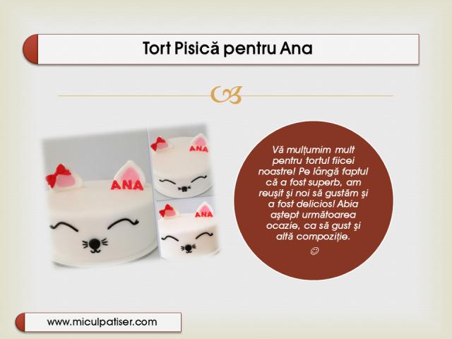 Tort Pisica pentru Ana