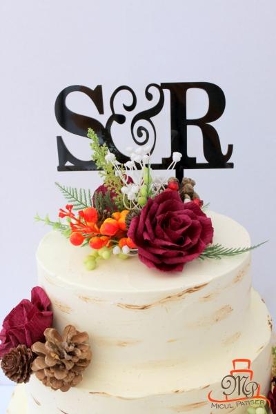 Tort nunta topper personalizat