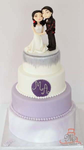 Tort de nunta figurine miri