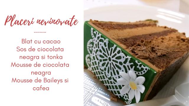 Placeri nevinovate - tort cu ciocolata neagra, cafea si Baileys